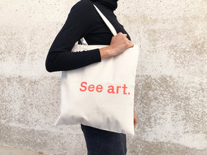 """See Art"" Tote bag"