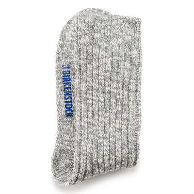 Birkenstock- Women Cotton Slub Grey Sock