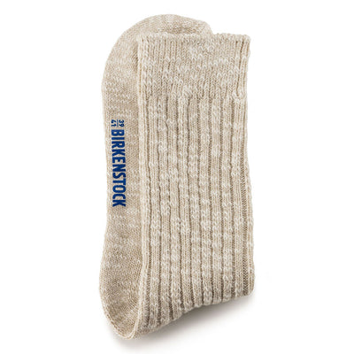 Birkenstock- Women Cotton Slub Beige Sock