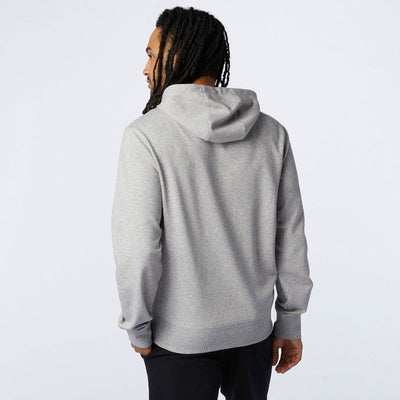 New Balance - Sweat à capuche Homme Essentials Stacked Logo Po Gris