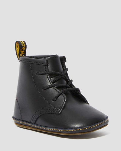 Dr Martens - Newborn 1460 Auburn Leather Booties Black