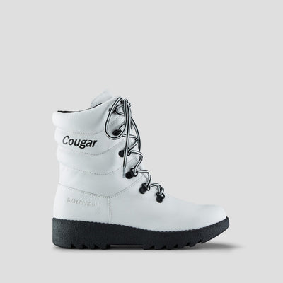 Cougar- Women's Original Pillow White Leather Winter Boots