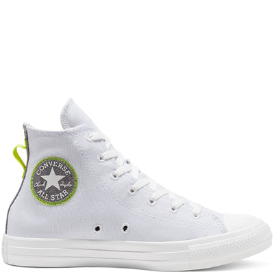 Converse - Chuck Taylor All Star High Top Blanc / Citron