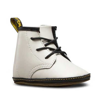 Dr Martens - Newborn 1460 Auburn Leather Booties Blanc