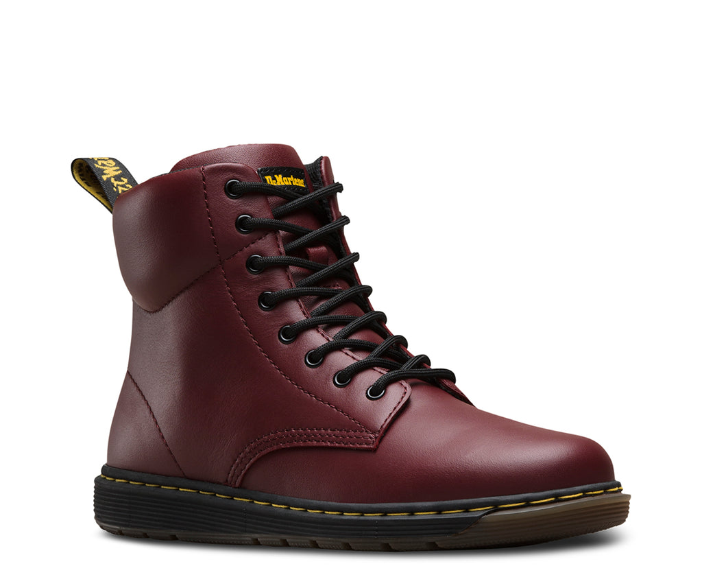 Dr Martens - Cuir Malky Rouge Cerise - GABRIEL CHAUSSURES