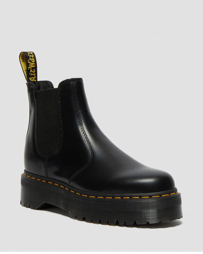 Dr Martens - Femme 2976 Quad Black Polished Smooth