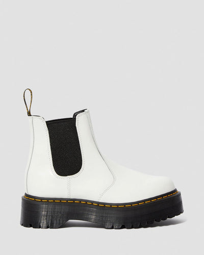 Dr Martens - Women's 2976 Quad White Smooth