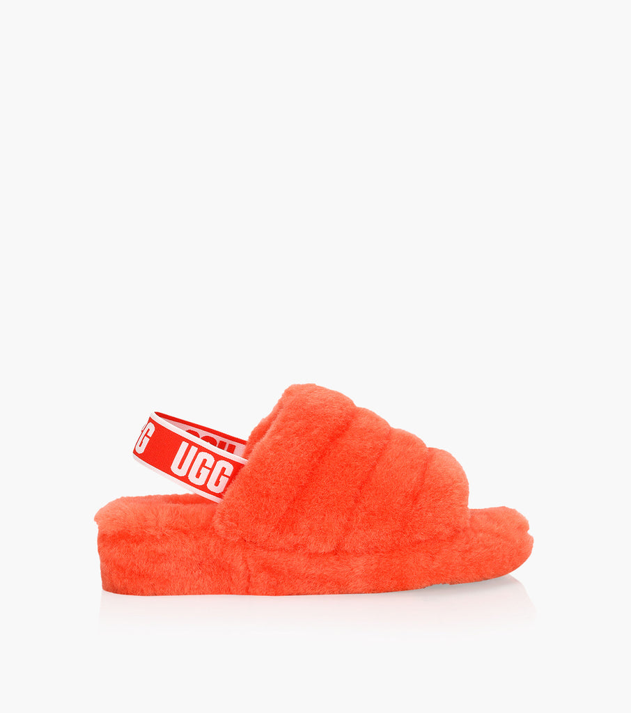 ugg fluff ouais slibe courant rouge