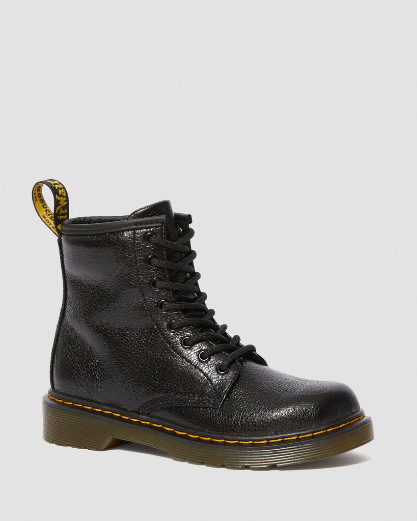 Dr Martens - enfants 1460 Black Crinkle Metallic