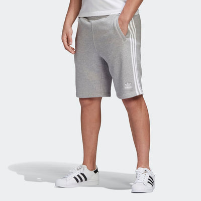 Adidas- Hommes 3 Stripes Short Gris DH5803