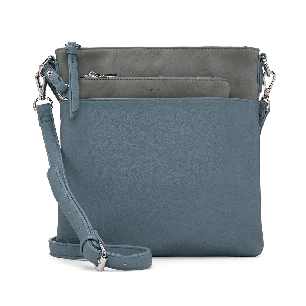 CO-LAB - 6318 Flat Crossbody Bluebird