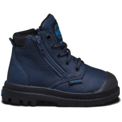 Palladium - Kids Pampa Hi Cuff Wp 23476-426 Dark Denim