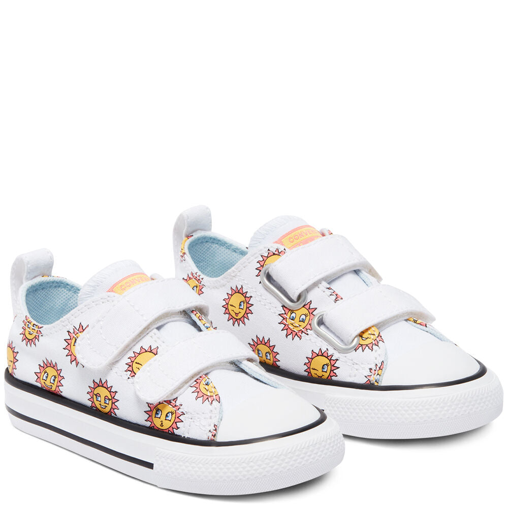 Converse- enfants Chuck Taylor All Star 2V Low Top Sun Graphic Easy-On 770703