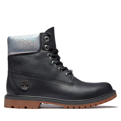 Timberland - Bottes pour femmes Timberland Heritage 6-Inch Waterproof Noir/Argent