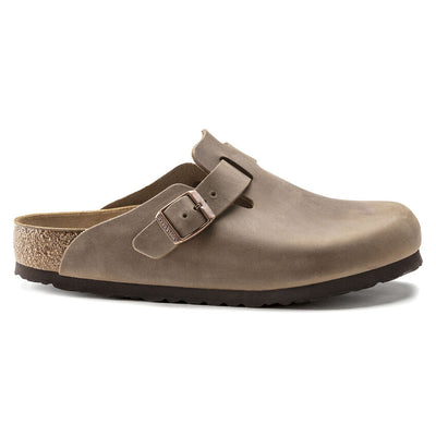Birkenstock- Femme Boston Oiled Leather Tabacco Brown