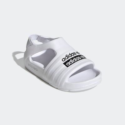 Adidas- Kid Adilette Play Slides White