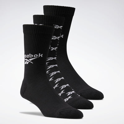 Reebok - Classic Fold-Over Crew Socks 3 pairs Black