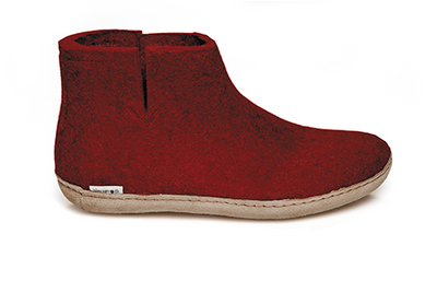 Glerups - Slipper Boot Semelle Cuir Rouge