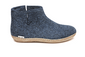 Glerups - Slipper Boot à semelle en cuir Denim