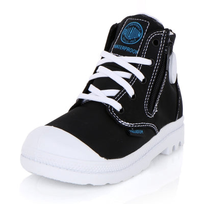 Palladium-Kids Pampa Puddle Zip Wp 23721-002 Black/White