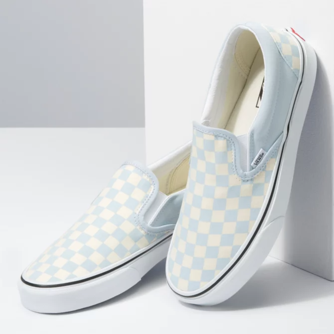 Vans - Femme Slip On Checkerboard Ballad Bleu / Blanc