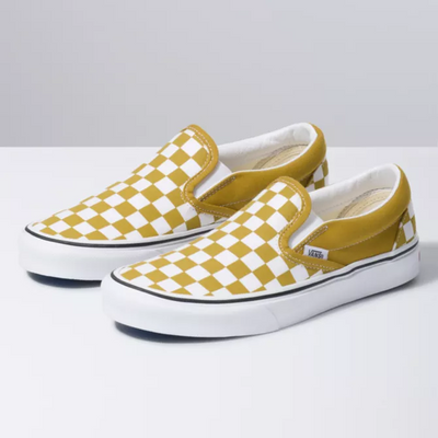 Vans - Femme Slip On Checkerboard Olive