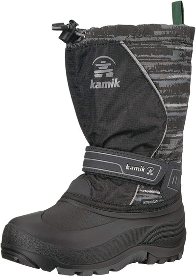 Kamik- Kids Winter Boots Snowcoast Black Charcoal