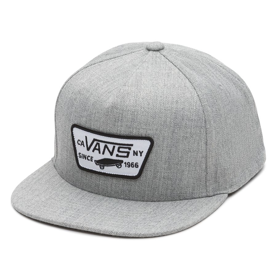 Vans - Casquette Full Patch Snapback Heather Grey