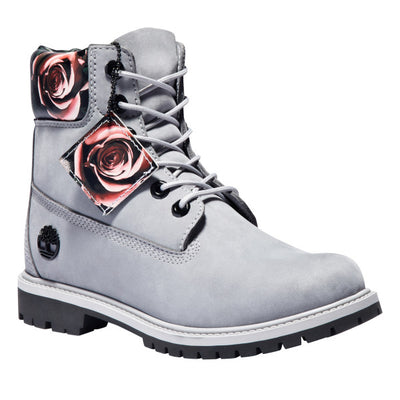 Timberland - Bottes Timberland Heritage 6-Inch imperméables grises pour femmes