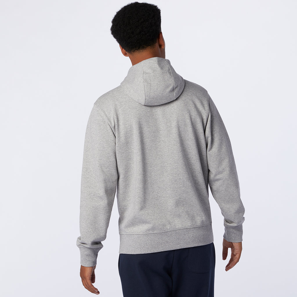 New Balance - Sweat à capuche zippé intégral Empilé Essentials Homme Gris