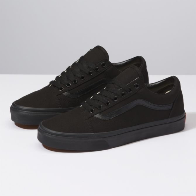 Vans - Canvas Old Skool in Black/Black