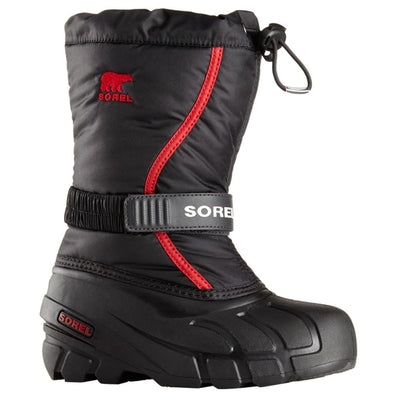 Sorel - Flurry Black / Red Kids