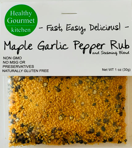 Maple Garlic Pepper Rub