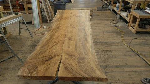 Single Slab Sycamore Dining Table