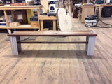 Walnut Bench with I Beam Legs