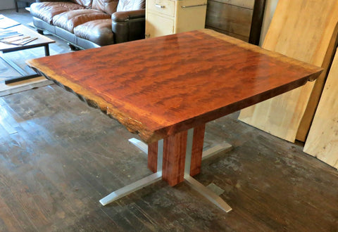 Bubinga and Aluminum Dining Table
