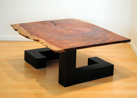 Bubinga and Steel Tube Coffee Table