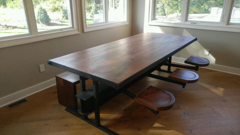 Dining Table with Swivel Seats