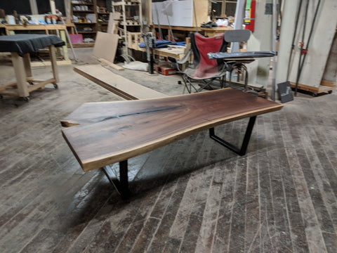 Walnut Table with Bowties