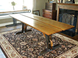 Reclaimed Oak and Steel Dining Table