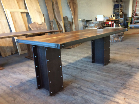 Industrial Inspired Walnut Desk