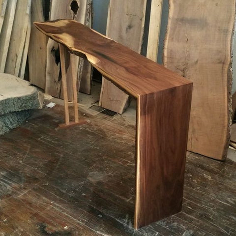 Walnut and Maple Hall Table