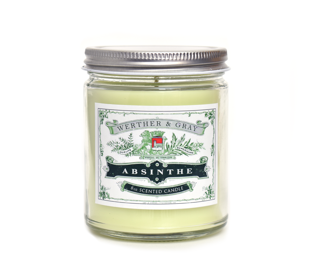 ABSINTHE, Scented Candle, 8oz Jar - Werther & Gray