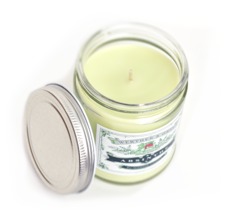 ABSINTHE, Scented Candle, 8oz Jar - Werther & Gray Artisan