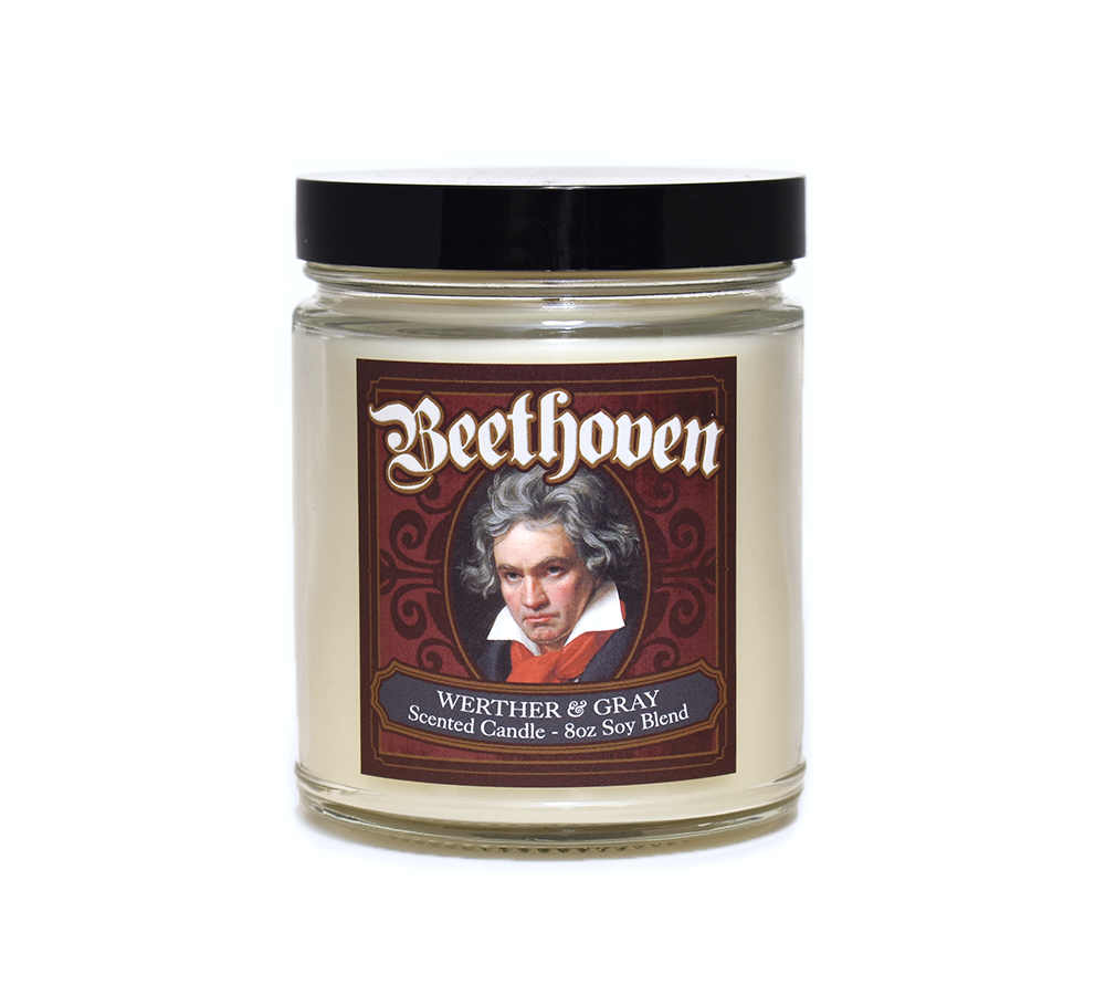 BEETHOVEN, Scented Candle, 8oz Jar - Werther & Gray