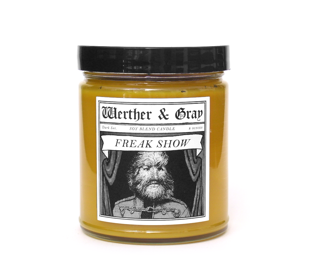 FREAK SHOW, Scented Candle, 8oz Jar - Werther & Gray