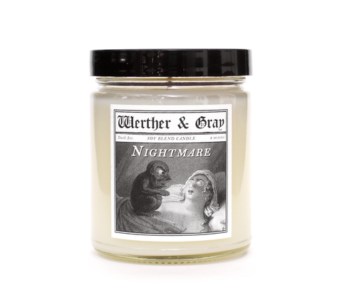 NIGHTMARE, Scented Candle, 8oz Jar - Werther & Gray