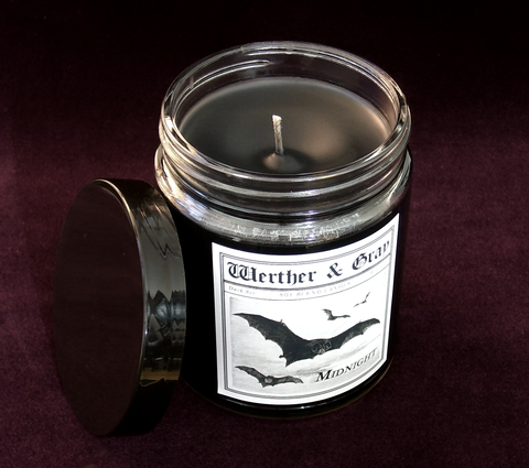 MIDNIGHT, Scented Candle, 8oz Jar - Werther & Gray