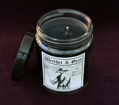 THE BLACK DEATH, Scented Candle, 8oz Jar - Werther & Gray