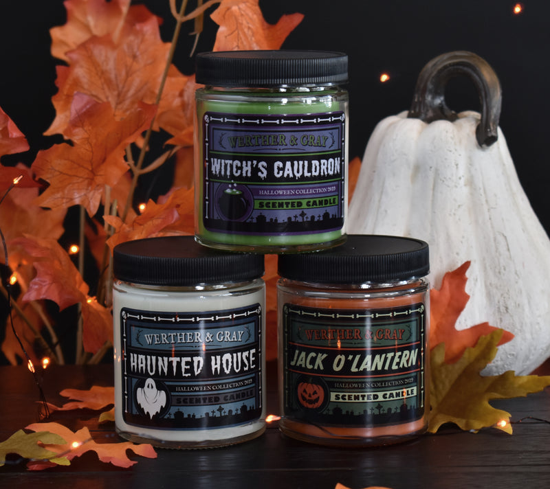 JACK O'LANTERN, Scented Candle, 5oz Jar - Werther & Gray